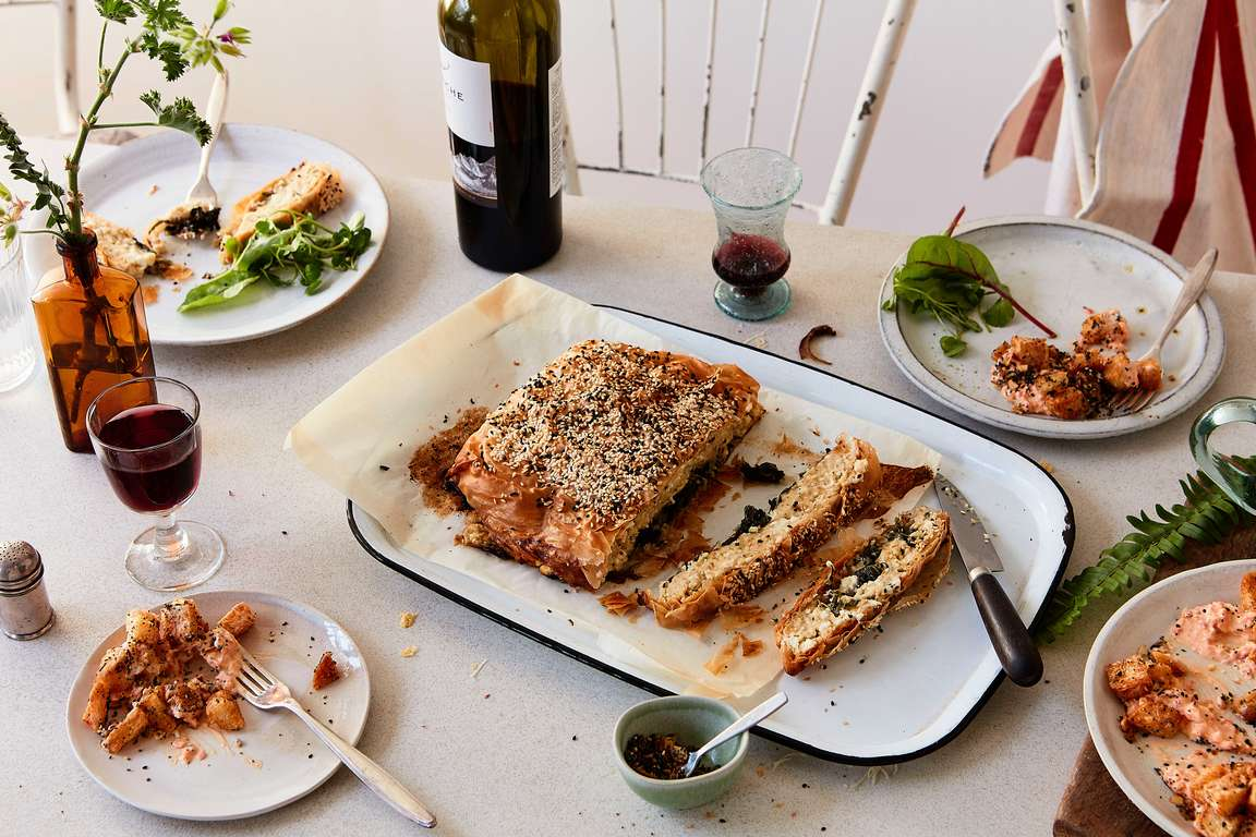Spinach and Feta Custard Pie