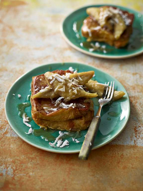 Ainsley Harriott's Pineapple Toast with Caramelised Rum Bananas
