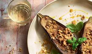 Cheese and Walnut-Stuffed Aubergines | ITV Ainsley's Mediterranean Cookbook