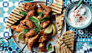 Harissa Lemon Chicken Skewers | ITV Ainsley's Mediterranean Cookbook