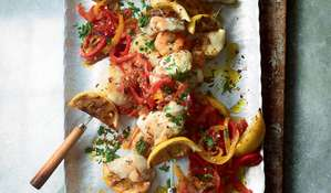 Seafood Skewers with Peperonata | ITV Ainsley's Mediterranean Cookbook