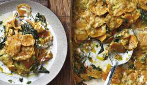 Ainsley Harriott Sweet Potato & Spinach Bake | Caribbean Recipe