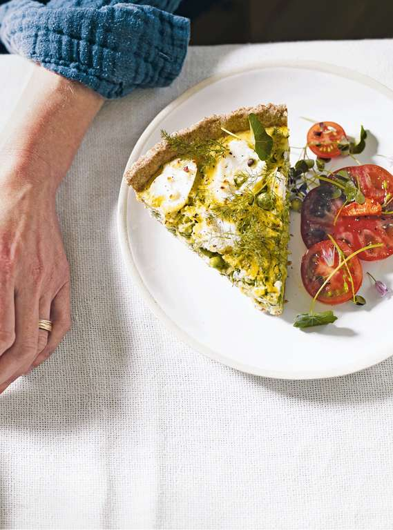 Courgette, Ricotta and Dill Tart with Spelt-rye Pastry