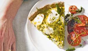 Courgette and Ricotta Tart | Summer Vegetarian Recipe