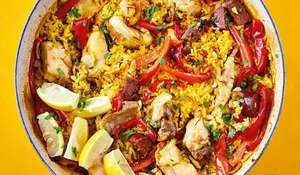 One-pot Spanish Chicken Paella | Easy Lockdown Rice Recipe