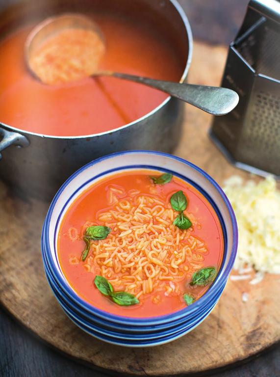 Alphabet Tomato Soup Fresh Basil & Cheddar Cheese