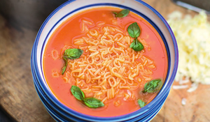 Jamie Oliver's Alphabet Tomato Soup from Super Food Family Classics