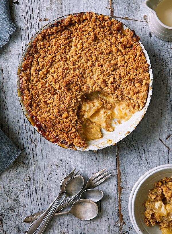 autumn baking apple and custard crumble the great british bake off winter kitchen
