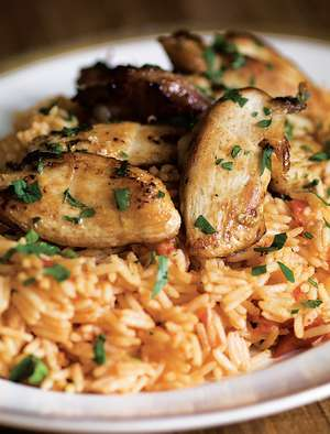 Sautéed Chicken with Tomato Pilaf (Tavuk Ve Domatesli Pilav)