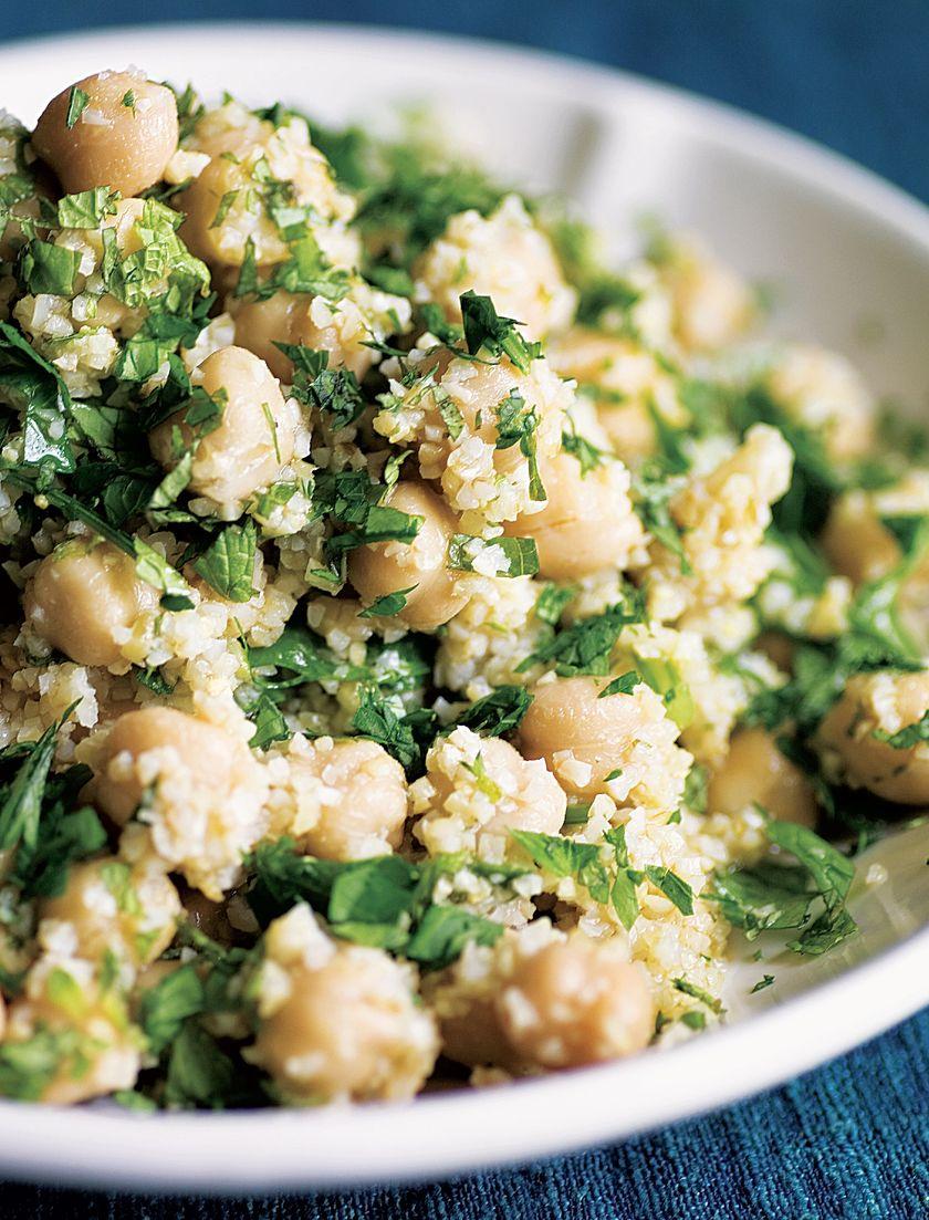 Easy Grain Store Cupboard Recipes | Bulgur & Chickpea Salad