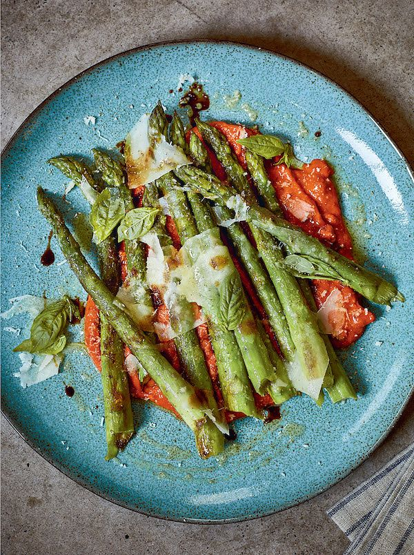 tomato recipes asparagus and romesco sabor cookbook