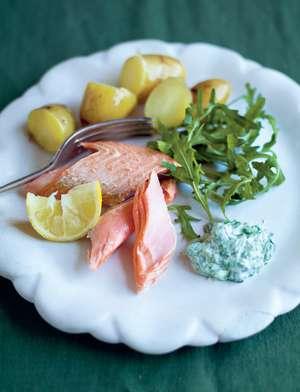 Baked Salmon Trout (Truite saumonée au four)