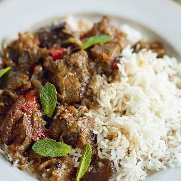 recipe: lamb and aubergine stew [8]