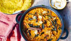 Aubergine Dal Recipe | Easy Vegetarian Dinner Party