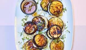Aubergine & Goat's Cheese Burger Stacks | Vegetarian Barbecue Recipe