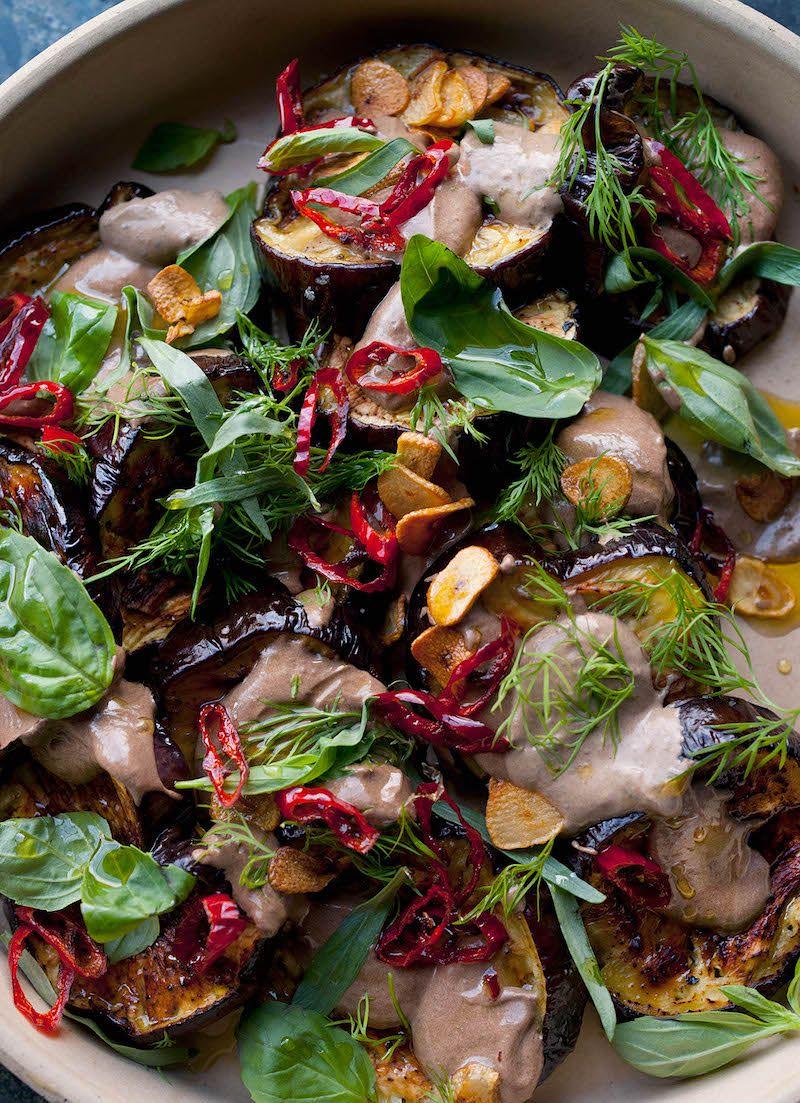 aubergine with black garlic ottolenghi black garlic recipes plenty more