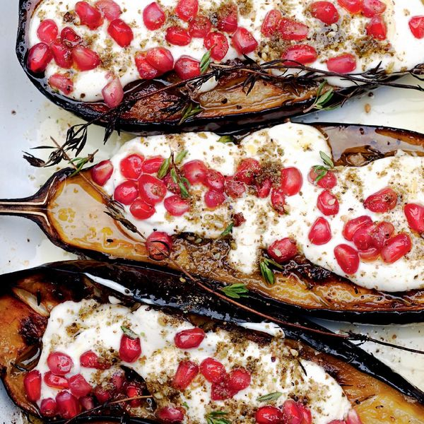 Aubergine With Buttermilk Sauce The Happy Foodie