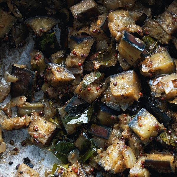 Stir fried aubergines cooked in a tamil nadu style kathirikai stir fried aubergines cooked in a tamil nadu style kathirikai poriyal forumfinder Image collections