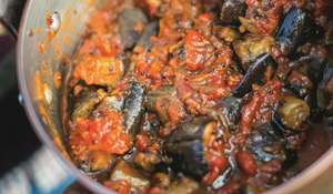 Aubergine, Fennel and Bean Stew