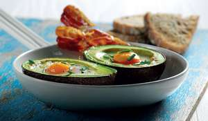 Avocado Baked Eggs from The Avocado Cookbook