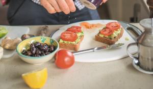 Avocado and Tomato Toastie