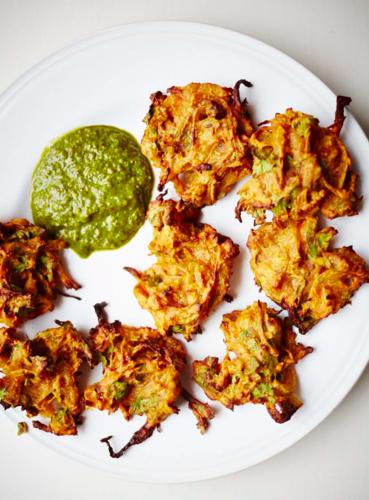 Baked Onion Bhajis (pyaz ke pakore) by Meera Sodha