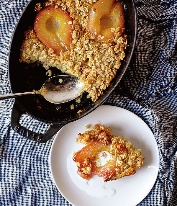 best pear recipes baked oatmeal with caramelised pears smitten kitchen