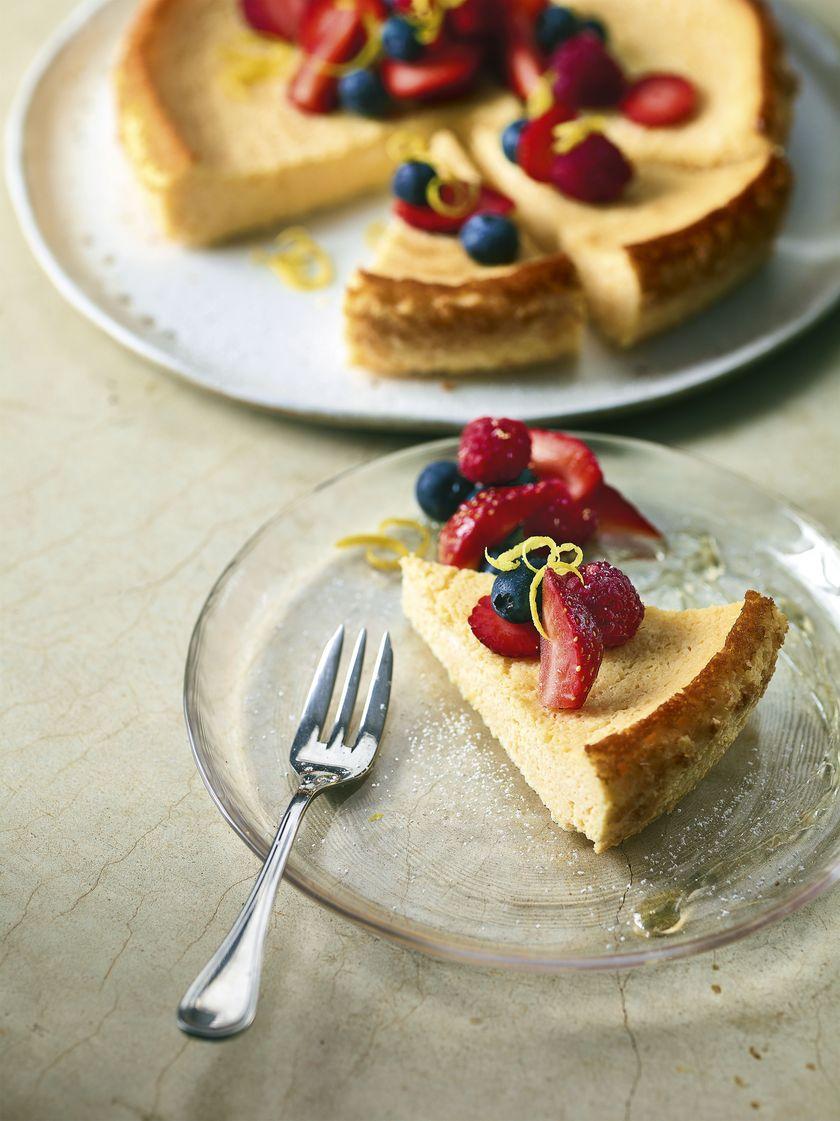 Baked Summer Cheesecake | Berry Dessert Recipe