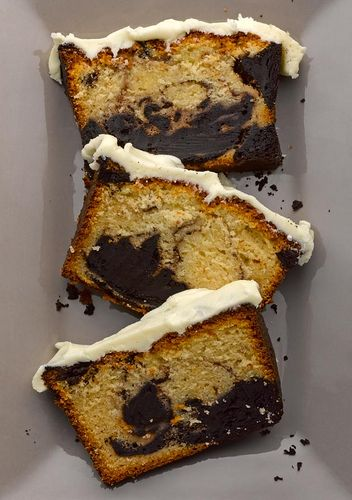 Chocolate Marble Cake with White Chocolate Icing