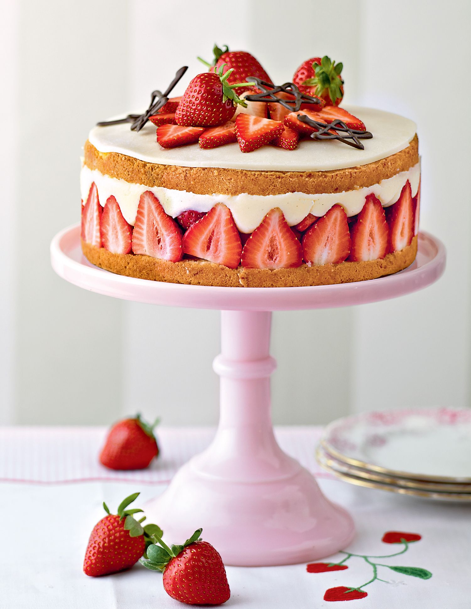 Mary Berry Strawberry Fraisier Cake