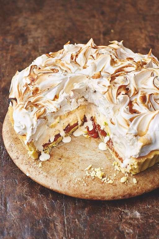 Banoffee Alaska Almond Pastry, Caramel, Bananas & Vanilla Ice Cream