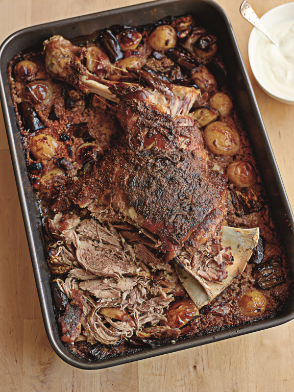 Cumin Slow-roasted Shoulder of Lamb with Couscous