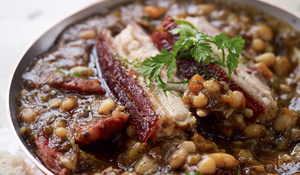 Arrocina Beans with Chorizo, Morcilla and Pork Belly