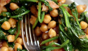Chickpeas, Spinach and Pancetta