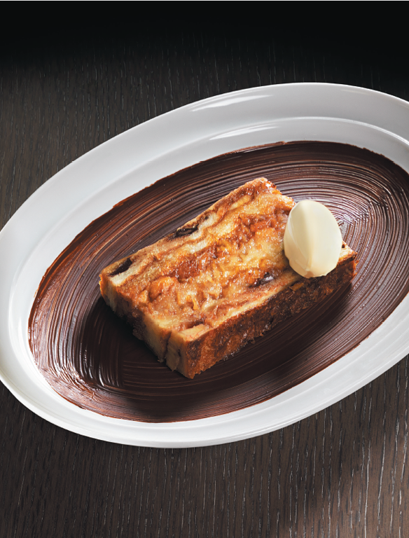 Caramelized Banana Bread and Butter Pudding
