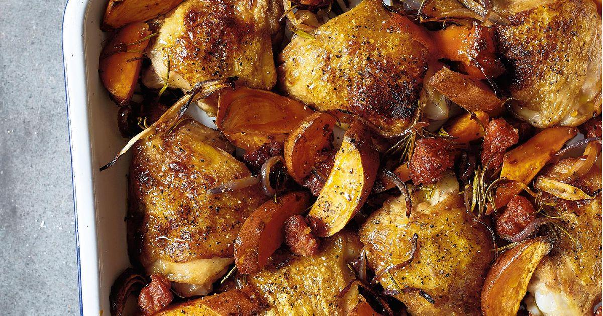 Chicken Chorizo And Sweet Potato Bake