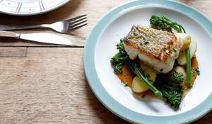 Pan-fried Cod with New Potatoes, Broccoli and a Prawn Bisque Sauce Recipe Britain's Best Home Cook