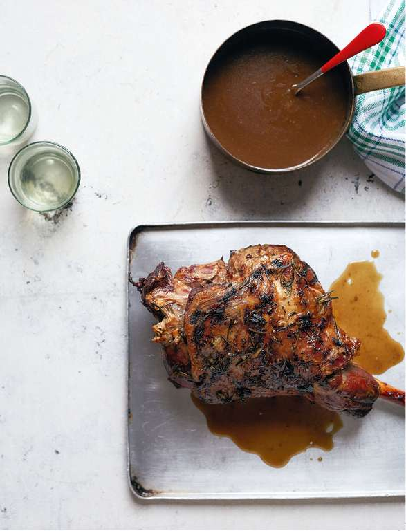 Roast Leg of Lamb with Madeira Gravy