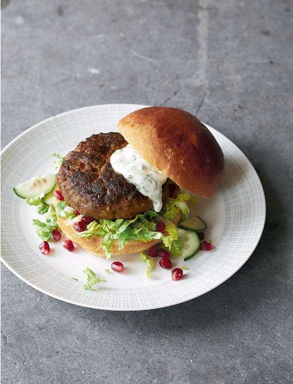 Moroccan Lamb Burgers with Mint Aïoli