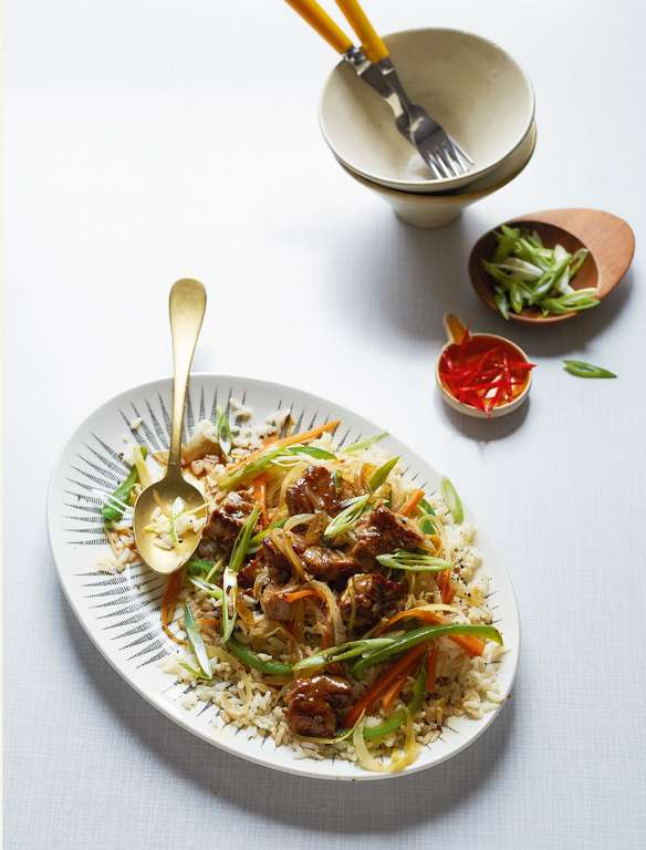 Sweet and Sour Pork with Egg-fried Rice