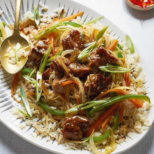 Sweet and sour pork with egg fried rice recipe britains best home cook sweet and sour pork with egg fried rice ccuart Images