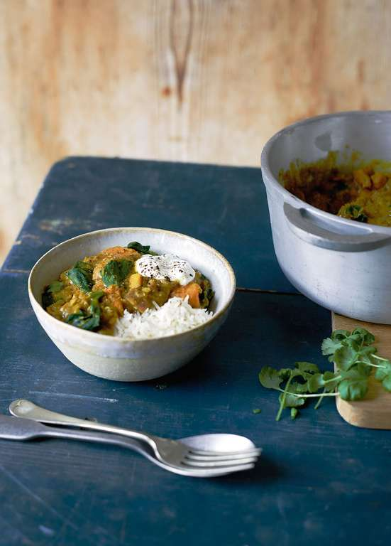 Sweet Potato, Red Lentil and Coconut Curry