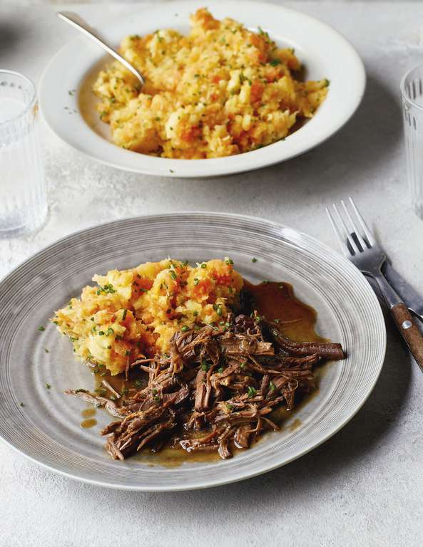 Eat Well For Less Slow-Cooked Beef with Root Veg Mash