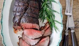Roast Fillet of Beef with Herbed Horseradish Sauce