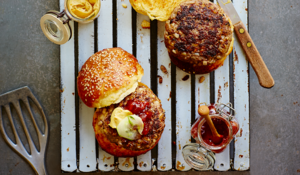 Beef and Barley Burgers