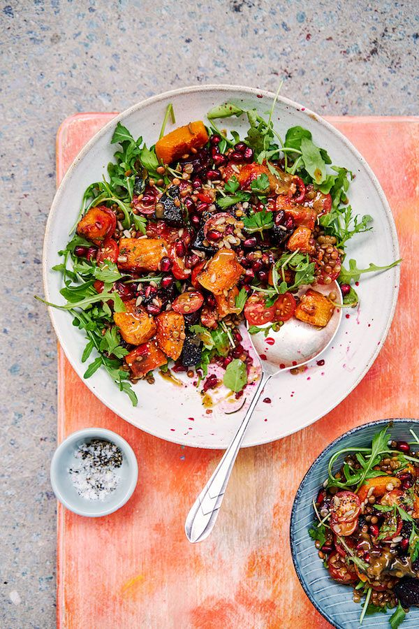 savoury picnic recipes roasted squash and beet salad with tahini rachel ama vegan eats