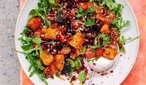 Rachel Ama's Beetroot and Squash Salad with Tahini Dressing | Vegan Recipes