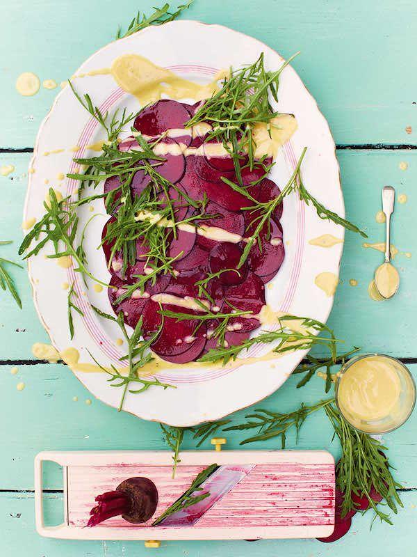 best vegetarian christmas starters beetroot carpaccio jamie oliver