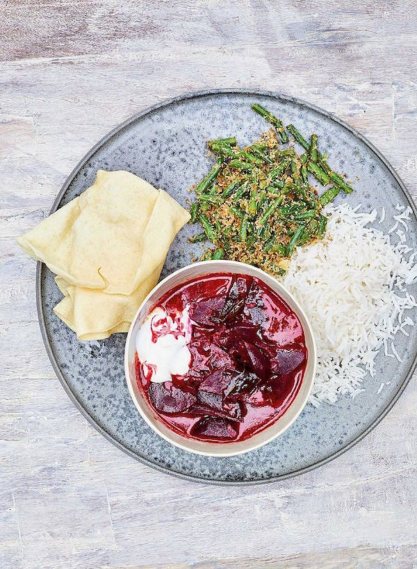 Sri Lankan Beetroot Curry with Green Bean MallumfromEAST by Meera Sodha