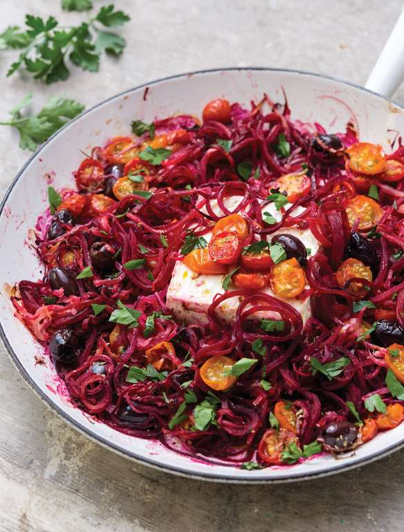 Mediterranean Beetroot and Feta Frying Pan Bake